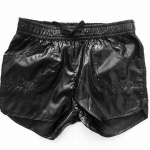 Shiny Black Sport Shorts